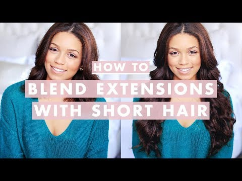 How To Clip In and Blend Hair Extensions with Short/Medium Length Hair