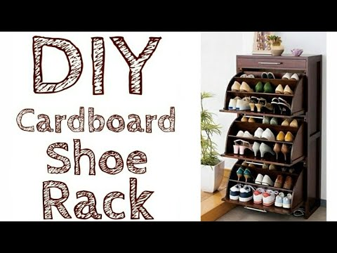 How to make shoe rack at home with cardboard