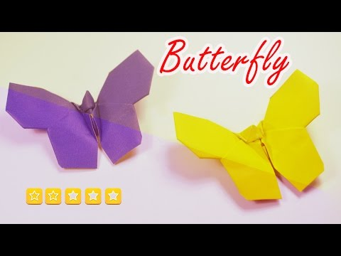 Origami Butterfly - Easy origami animal