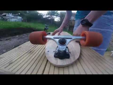 how to make a longboard from a pallet for free + template wooden pallet projects