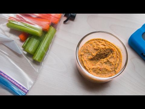 Healthy White Bean Dip Snack-Prep