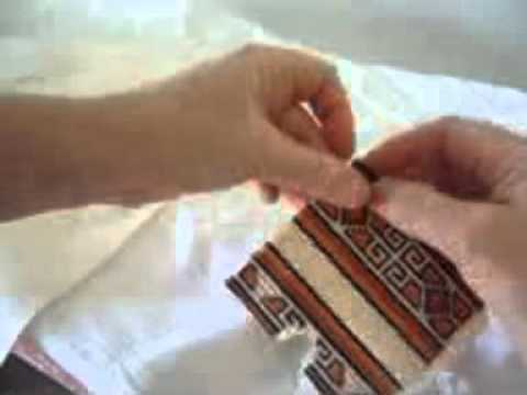 How To Finish a Model Horse Cross Stitch Saddle Pad