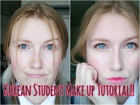 Korean High School Makeup Tutorial!!!!  xoxo