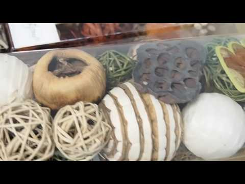 Decorative Natural Twig Rattan Balls Orbs Dried Leaf Flowers Grass Reed Nuts Wedding Home Garden