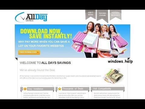 how to remove AllDaySavings ads virus from chrome,firefox,explorer