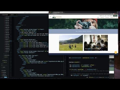 Sticky on Scroll Bottom/Top Nav - Live Coding