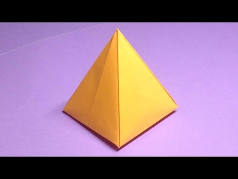 How to make a paper pyramid | Easy origami pyramids for beginners making | DIY-Paper Crafts