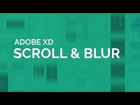 Adobe XD Scroll & Blur Tutorial (New Updates to XD)