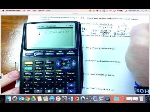 volume missing radius and height 2