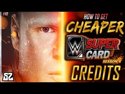 HOW TO GET CHEAPER CREDITS IN WWE SUPERCARD SEASON 4 #ad