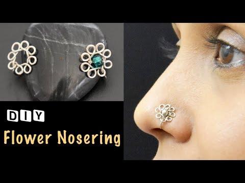 Flower Nosering | How to make Nosering | Handmade Nosering | VHMJ