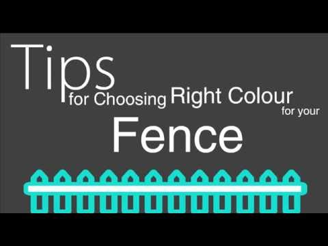 Tips for Choosing the Right Colour for your Fence