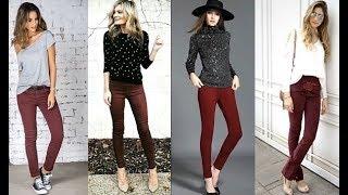 Outfits Idea con tus Pantalones Vinotinto - Moda Tendencias 2018/2019!!!