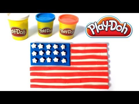 Play doh USA flag how to make play dough by lababymusica