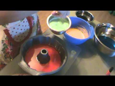 Rainbow Jell-O bundt recipe