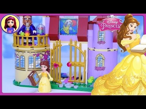 LEGO Disney Princess Belle's Enchanted Castle Set Build Review Silly Play - Kids Toys