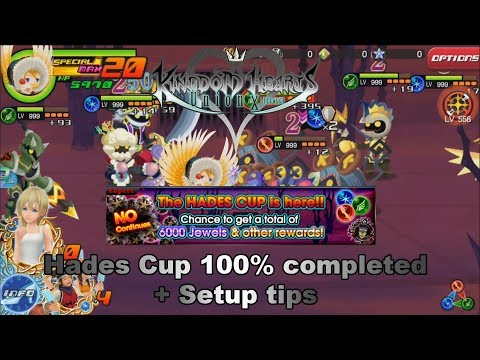 Kingdom Hearts Union X - Hades Cup 100% completed! Setups, tips and tricks