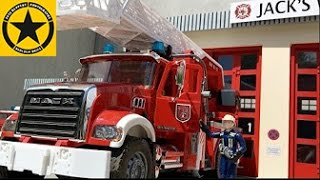BRUDER Toys FIRE Departement TOY TRUCKS Fire Engines (LONG PLAY) english subtitles