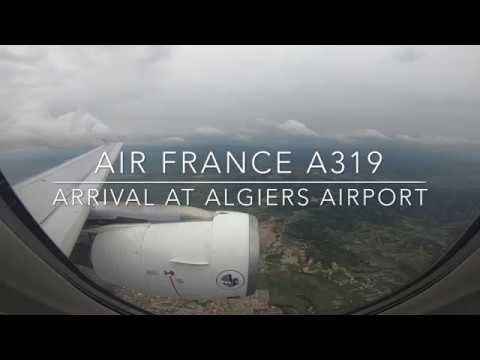|| GO PRO || Turbulent Landing at Algiers Airport || Air France Airbus A319