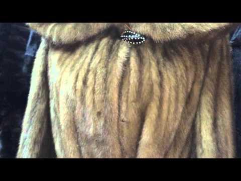 Real mink fur cheep coat