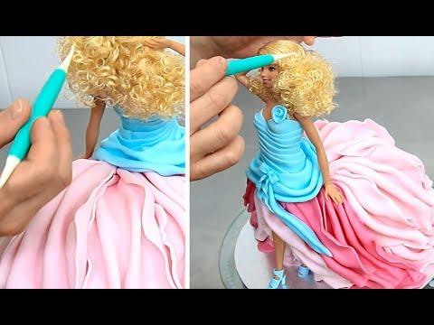 How To Make a BARBIE FASHIONISTA Doll Cake!!! Cake Decorating by Cakes StepbyStep