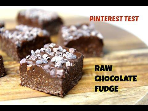 PINTEREST TEST: RAW VEGAN CHOCOLATE FUDGE - CookingwithKarma