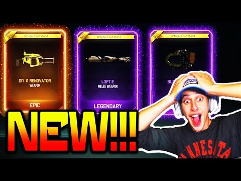 OMG I GOT THE NEW WEAPONS!!! BO3 NEW GUNS, WEAPONS, & THEMES!! *RARE SUPPLY  DROP OPENING*