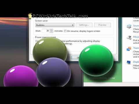 Enable Hidden Screen Saver Options in Vista
