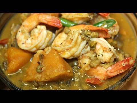 Ginataang Kalabasa at Munggo (with Shrimp)