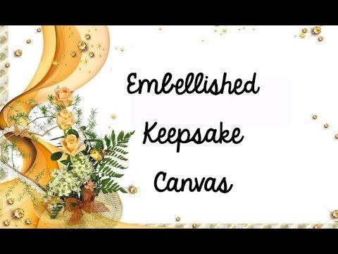 Embellished Keepsake Canvas