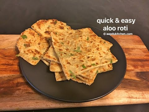 quick & easy aloo roti recipe   easy breakfast roti  leftover boiled potato recipe
