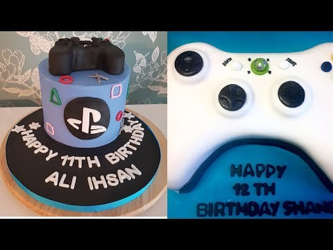X-box 360 PS 4 Game Console Cake Decoration- Birthday Cake ideas for Gamers-Step by Step Tutorials