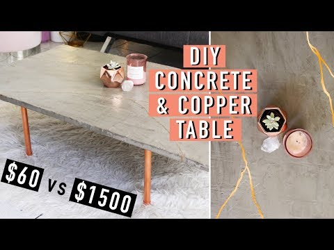 *AFFORDABLE* DIY Concrete and Copper Kintsugi Table! | Nava Rose