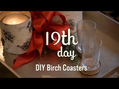 Christmas Decorating 2017 |  DIY Birch Coasters | 19