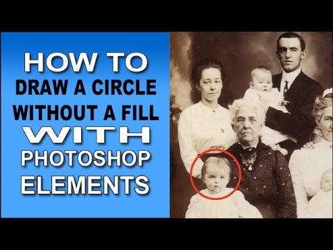 How to Draw a Circle Without a Fill in Photoshop Elements