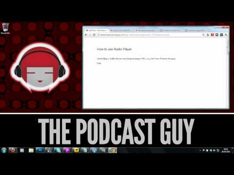 How to use the Audio Player WordPress plugin to promote your podcast