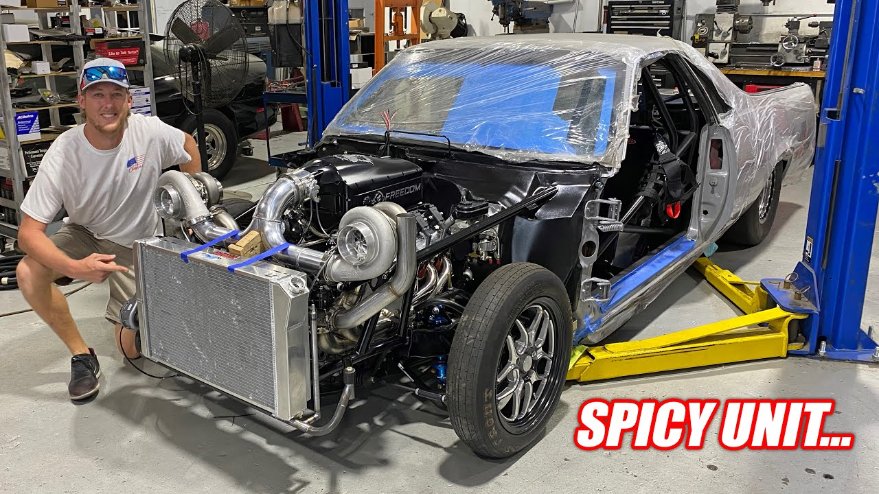 """Our 2,000 Horsepower El Camino """"Mullet"""" Is Nearing Competition and it's AMAZING!!!"""