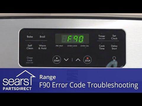 Troubleshooting an F90 Error Code on a Range