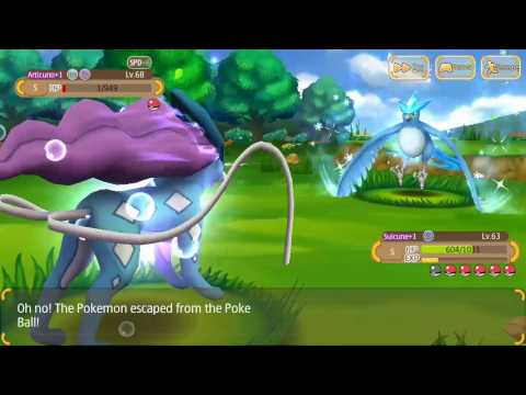 Monster park(Hey monster/Catchem monsters) Articuno full fight with successful catch!