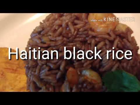 Haitian BlackcRice with shrimp/ Riz Djon Djon