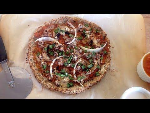 Cauliflower Pizza Crust + It's Vegan, Oil-free, & Gluten-Free