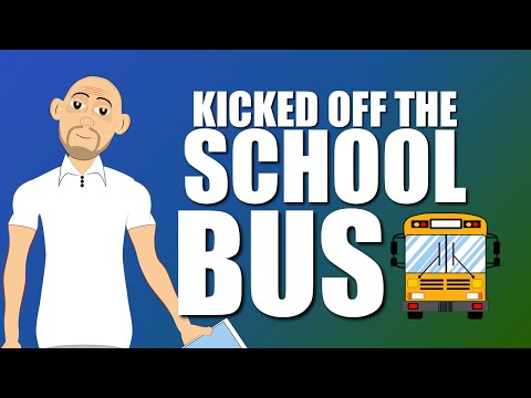 Fighting & Bullying is trouble on the School Bus for safety! (School Bus Safety Cartoon)