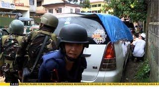 Katie Stallard and Sky News team come under sniper fire in Philippines