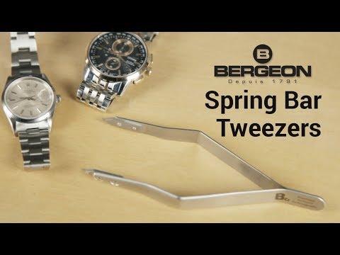Bergeon 7825 Watchmaker's Spring Bar Tweezers