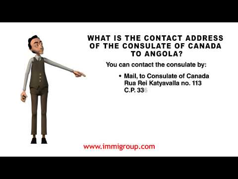 What is the contact address of the Consulate of Canada to Angola?