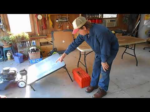 how to make a lawn mower lift inexpensively that stows away