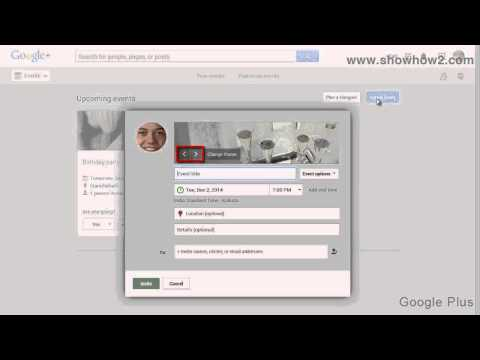 Google+ - How To Create An Event