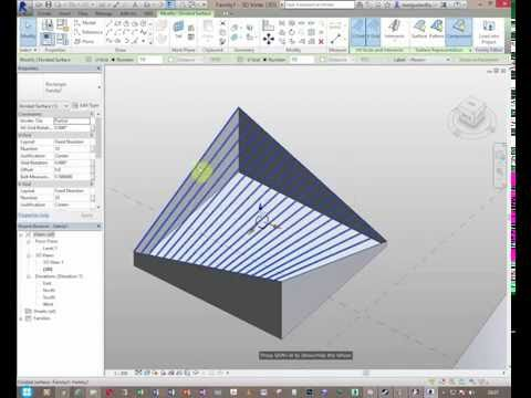 Bamboo Roof  Frames in Revit ;Curtain Pattern vs Curtain System