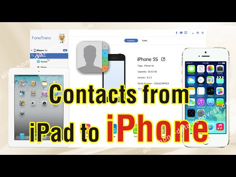 How to Sync Contacts from iPad to iPhone 7/6S/6S Plus Easily