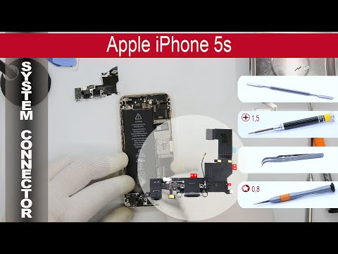 How to replace 🔌 Lightning port 🍎 Apple iPhone 5s A1533, A1453, A1457, A1530